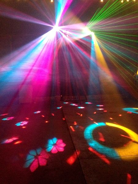 small disco lighting package